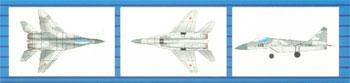 Trumpeter Mig29K Fulcrum Aircraft Set for Russian Carriers (18/Bx) -- Plastic Model Kit -- 1/700 -- #03409