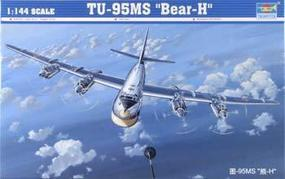 Trumpeter Russian TU95MS Bear H Bomber Plastic Model Airplane Kit 1/144 Scale #03904