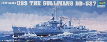 Trumpeter USS The Sullivans DD-537 -- Plastic Model Military Ship Kit -- 1/350 Scale -- #05304