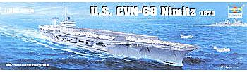 Trumpeter USS Nimitz CVN68 1975 Aircraft Carrier -- Plastic Model Military Ship Kit -- 1/350 Scale -- #05605