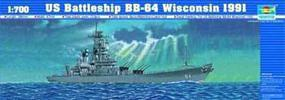 Trumpeter U.S.S. Wisconsin BB64 1991 Battleship Plastic Model Military Ship Kit 1/700 Scale #05706