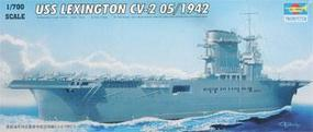 Trumpeter USS Lexington CV-2 1942 Plastic Model Military Ship Kit 1/700 Scale #05716