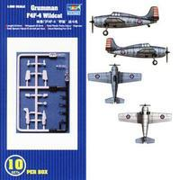 Trumpeter F4F-4 Wildcat Aircraft Carrier Fleet (10) Plastic Model Airplane Kit 1/350 Scale #06202