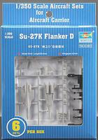 Trumpeter Mig29K Fulcrum D Set of 6 for Carrier Kuznetsov Plastic Model Airplane Kit 1/350 #06216