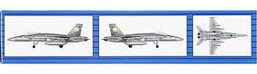 Trumpeter F/A-18C Hornet (6) Fighter Aircraft Plastic Model Airplane Kit 1/350 Scale #06233