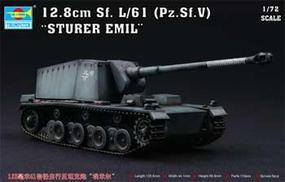 Trumpeter German 12.8cm Sf.L/61 (Pz.Sf.V) Sturer Emil Tank Plastic Model Kit 1/72 Scale #07210