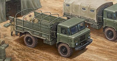 Trumpeter Russian GAZ-66 Light Military Truck -- Plastic Model Military Vehicle Kit -- 1/35 Scale -- #1016