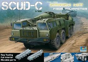 Trumpeter Soviet SS-1D SCUD-C Tactical Missile Launcher Plastic Model Vehicle Kit 1/35 Scale #1019