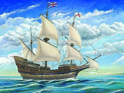 Trumpeter Mayflower Sailing Ship -- Plastic Model Sailing Ship Kit -- 1/60 Scale -- #1201
