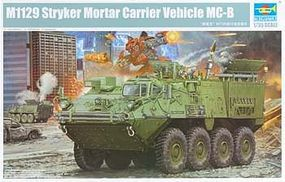 Trumpeter M1129 Stryker Mortar Carrier with 120mm Mortar Plastic Model Military Kit 1/35 Scale #1512