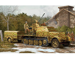 Trumpeter 3.7cm FLAK 43 on Sd.Kfz 1-35 Plastic Model Military Vehicle Kit 1/35 Scale #1527