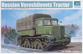 Trumpeter Russian Voroshilovets Heavy Artillery Tractor Plastic Model Military Kit 1/35 Scale #1573