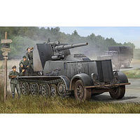 Trumpeter German SdKfz 8 Halftrack with 8.8cm Flak 18 Plastic Model Military Vehicle 1/35 Scale #1585