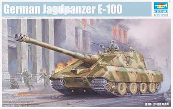 Trumpeter German Jagdpanzer E100 Super Heavy Tank -- Plastic Model Military Vehicle Kit -- 1/35 Scale -- #1596