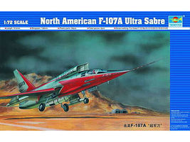 Trumpeter F107A Ultra Sabre Prototype Aircraft Plastic Model Airplane Kit 1/72 scale #1605