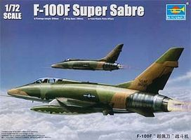 Trumpeter F100F Super Sabre Fighter Aircraft Plastic Model Airplane Kit 1/72 Scale #1650