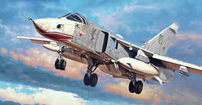 Trumpeter Su-24MR Fencer-E Attack Aircraft Plastic Model Airplane Kit 1/72 Scale #1672