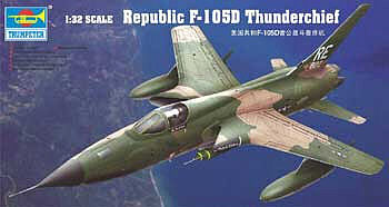 Trumpeter F105D Thunderchief Aircraft -- Plastic Model Airplane Kit -- 1/32 Scale -- #2201