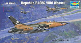 Trumpeter F105G Thunderchief Wild Weasel Aircraft Plastic Model Airplane Kit 1/32 Scale #2202