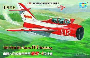 Trumpeter Shenyang FT5 Trainer 2-Seater Fighter -- Plastic Model Airplane Kit -- 1/32 Scale -- #2203