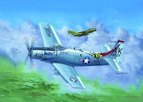 Trumpeter A-1H AD6 Skyraider Aircraft Plastic Model Airplane Kit 1/32 Scale #2253
