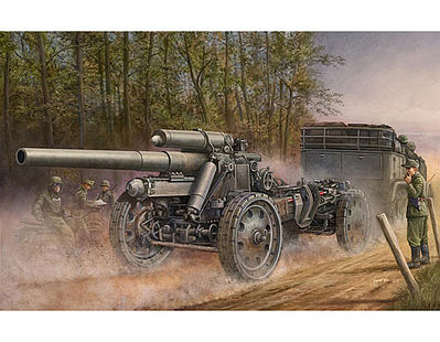 Trumpeter German 15cm s.FH 18 Field Howitzer -- Plastic Model Military Vehicle -- 1/35 Scale -- #2304