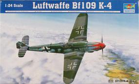Trumpeter Bf-109K-4 Messerschmitt Plastic Model Airplane Kit 1/24 Scale #2418