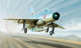 Trumpeter J-7A Chinese Fighter Plastic Model Airplane Kit 1/48 Scale #2859