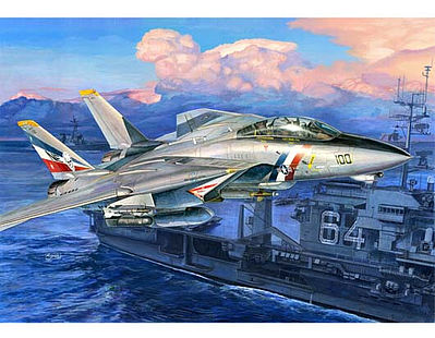 Trumpeter F14D Super Tomcat Fighter Aircraft -- Plastic Model Airplane Kit -- 1/32 Scale -- #3203