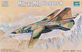 Trumpeter MiG23MLD Flogger K Soviet Fighter Aircraft Plastic Model Airplane Kit 1/32 Scale #3211