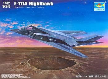Trumpeter F-117A Nighthawk Aircraft -- Plastic Model Airplane Kit -- 1/32 Scale -- #3219