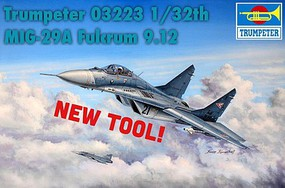 Trumpeter MiG-29A Fulcrum Russian Fighter Plastic Model Airplane Kit 1/32 Scale #3223