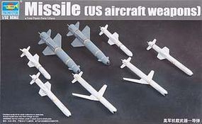 Trumpeter US Aircraft Weapons Set Missiles Plastic Model Military Diorama 1/32 Scale #3306
