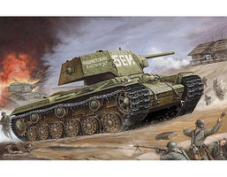 Trumpeter Soviet KV1s Ehkranami Tank Plastic Model Military Vehicle 1/35 Scale #357