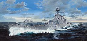 Trumpeter HMS Hood British Battleship Plastic Model Military Ship 1/200 Scale #3710