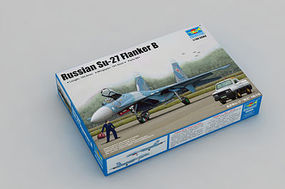 Trumpeter Russian Su-27 Flanker B Fighter Aircraft Plastic Model Airplane Kit 1/144 Scale #3909