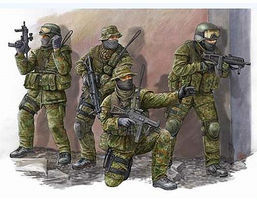 Trumpeter Modern German KSK Commandos Figure Set Plastic Model Military Figure Kit 1/35 Scale #422