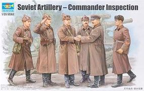 Trumpeter Soviet Artillery Commander Inspection Figure Set Plastic Model Figure Kit 1/35 Scale #428