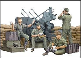 Trumpeter German Anti-aircraft Gun Crew Plastic Model Military Figure Kit 1/35 Scale #432