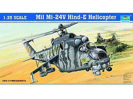 Trumpeter Mil Mi24V Hind E Helicopter Plastic Model Kit 1/35 Scale #5103