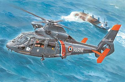 Trumpeter AS365N2 Dolphin 2 US Marine -- Plastic Model Helicopter Kit -- 1/35 Scale -- #5106