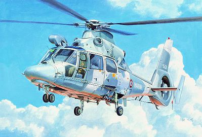 Trumpeter AS565 Panther Helicopter -- Plastic Model Helicopter Kit -- 1/35 Scale -- #5108