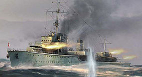 Trumpeter German Zerstorer Z-21 Destroyer 1940 Plastic Model Military Ship 1/700 Scale #5792