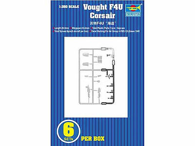 Trumpeter F-4U Corsair -- Plastic Model Aircraft Accessory -- 1/350 Scale -- #6209