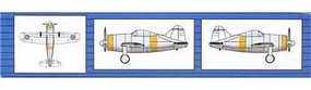 Trumpeter F2A Fighter (6) Plastic Model Airplane 1/350 Scale #6242