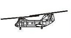 Trumpeter CH-46 Sea Knight Plastic Model Helicopter 1/350 Scale #6256