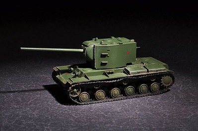 Trumpeter Russian KV-2 with 107mm ZIS-6 -- Plastic Model Military Vehicle Kit -- 1/72 Scale -- #7162