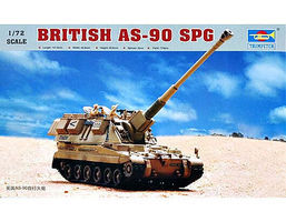 Trumpeter British AS90 Self-Propelled Gun Plastic Model Military Vehicle 1/72 Scale #7221