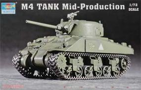 Trumpeter US M4 Medium Sherman Tank Plastic Model Military Vehicle 1/72 Scale #7223