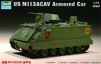 Trumpeter US M113 Armored Cavalry Assault Vehicle -- Plastic Model Military Vehicle -- 1/72 Scale -- #7237